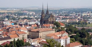 The city of Brno, Czech Republic. This is a niew from Spilberk